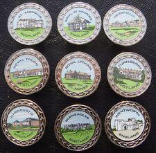 Set De 10 X Club House Raro Coleccionable Pelota De Golf Metal Marcadores - a partir de 1991