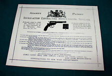Carta ADAMS Gunmaker RIPRODUZIONE PISTOLA Custodia Accessori etichetta