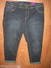 LANE BRYANT 20 Dark Wash Straight Leg Stretch Denim Jeans w/ Faded Areas (20W)