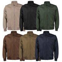 Men's Water Resistant Classic Athletic Lightweight Slim Fit Iconic Racer Jacket