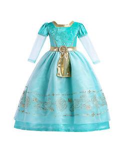 ELSA & ANNA® Girls Fancy Dress Snow Queen Princess Dress Halloween Costume MRD01