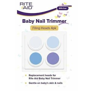 Rite Aid Baby Nail Trimmer Filing Heads 4pk Replacement Heads BPA-Free