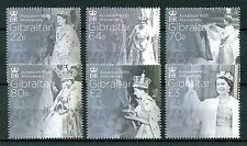 Gibraltar 2017 MNH Queen Elizabeth II Accession 65th Sapphire Jubilee 6v Stamps