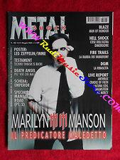 rivista METAL SHOCK 383/2003 Poster Led Zeppelin Marilyn Manson Blaze  No cd