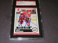 JEFF SKINNER AUTOGRAPHED 2011-12 SCORE RC & TRADED CARD-SGC SLAB-ENCAPSULATED