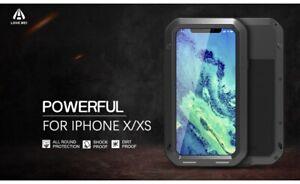 LOVE MEI Shockproof, Dustproof Heavy Duty Metal Case for Apple iPhone X/Xs (10)
