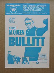 Steve McQueen Jacqueline Bisset original Brazilian press sheet 1969  Bullitt