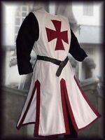 MEDIEVAL,TEMPLAR KNIGHT Tunic Surcoat Crusader Sleeveless Renaissance LARP