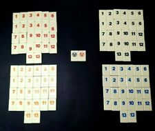 Rummikub Game 1997 Replacement Tiles  Numbers Pieces Parts Complete Set of 106