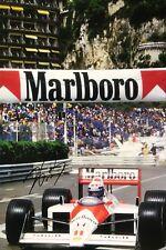 Alain Prost Hand Signed Marlboro McLaren F1 18x12 Photo 1.