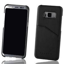 Bugatti Full Grain Leather Snap Case for Samsung Galaxy S8 - Black