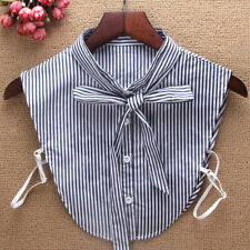 Unisex Detachable Dickey Blouse Shirt Cotton Fake False Choker Collar #EAF508