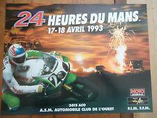 POSTER OFFICIEL ** 24 HEURES DU MANS 1993 MOTOS **  AFFICHE ACO MOTO LE