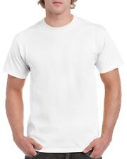 White GILDAN 5000L Men's Plain 100% Cotton Blank T-shirt Tee sizes S - 2XL