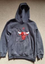 Adidas Chicago Bulls Gray hoodie hooded sweatshirt size Youth M 10-12