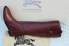 BURBERRY COPSE BORDEAUX  KNEE HIGH BOOTS #7us $1095