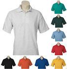Men's Polo Shirt Plain Casual Top Short Sleeve Adults Pique Knit S-5XL New