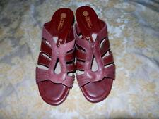Open Toe Solid Cuban Heels for Women