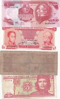 SEVEN LATIN AMERICA BANKNOTES IN FINE TO MINT CONDITION