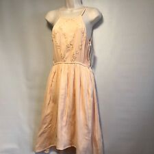 NWT Mudd Womens Sz S Peach Dress Ret: $44 Spaghetti Strap Below Knee