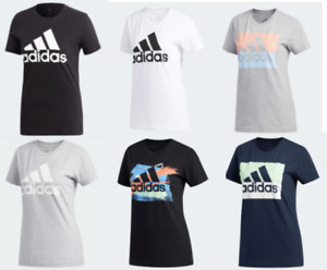 Adidas Badge of Sport Tees Womens Short Sleeve T Shirts XS to XL Authentic New