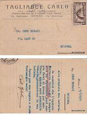 # MONZA: testatina TAGLIABUE CARLO - OLII-GRASSI- LUBRIFICANTI 1936