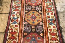 Antique HANDMADE Caucasian Kazak karabakh Armenian runner 445 x 105 cm