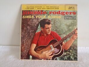"JIMMIE RODGERS - 7""PS/EP - SINGS FOLK SONGS  Part 2          EP - 1958 - US copy"