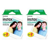2 Packs 40 Instant Photos FujiFilm Instax SQUARE Film Polaroid Camera For SQ10