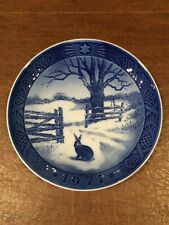 "Royal Copenhagen 7"" Collector Plate 1971 Hare in Winter Kai Lang Nice!"