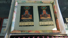 Dec. 4, 1993 Alabama vs Florida SEC Football Championship Game 2 tickets framed