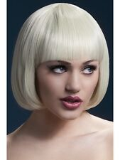 Blonde Wig Mia Short Bob with Fringe Night Out Costume Hen Party Fever