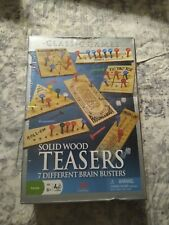 Solid Wood Brain Teasers 7 Different Brain Busters Classic Games New Sealed
