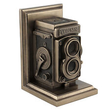 vintage camera bookend bronze finish home decor