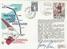 C59A  Carried 1st flight London to Paris by Hang glider. Signed Glider  pilot