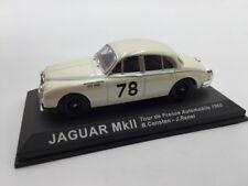 jaguar mk ll consten-renel tour de france 1960 n49/70 1/43 voitures de rallye