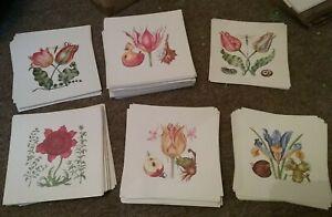 Job lot of 6 Botanical plant prints