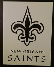 "New Orleans Saints Football 8.5 x 11"" Custom Stencil FAST FREE SHIPPING"