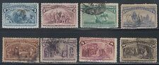 TMM* 1893 US Stamp group Columbian Expo Scott #230-37 F/VF  used/LH & NH