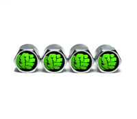 Incredible Hulk Fist Tire Valve Stem Caps - Chrome Surface - Set of Four