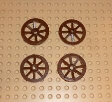 LEGO - Wheel Wagon Small (27mm D.), BROWN x 4 (2470) TW55
