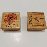Studio G Kolette Hall Wood Rubber Stamp (2) You're On My Mind, Thoughts of You