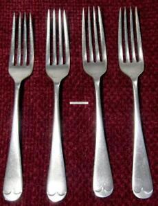 Silverplate EPNS Dinner Fork Saunders Savoy Design England Lot of 4