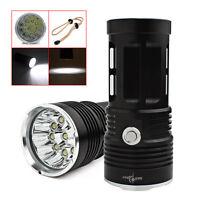 32000LM 12 x CREE XM-L T6 LED Torch Lamp 4 x 18650 Hunting Flashlight New light