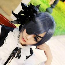 Fashion Black Butler Ciel Phantomhive Blue Gray Short Anime Costume Cosplay Wigs