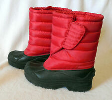 SINTETICO Girls Youth size 5 WINTER SNOW BOOT Red  Y398
