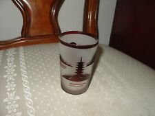 """CAMEO GLASS RUBY AND SATIN SMALL GLASS  4""""  #2"""