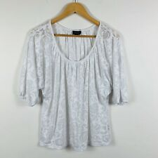 Witchery Womens Top Size Small White Floral Gorgeous Design Boho Style