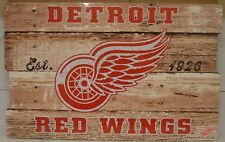 """DETROIT RED WINGS EST 1926 WOOD FENCE SIGN 19""""X30'' BRAND NEW WINCRAFT"""