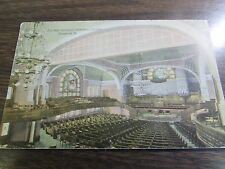 Vintage - Elm Park Methodist Church - Interior - Scranton Pa - Post Card - Vg